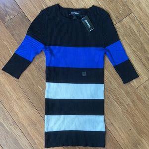 NEW EXPRESS Knit Ribbed 1/2 sleeve shirt sz S